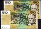 Fifty Dollar Consecutive Pair 1