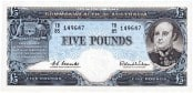 Five Pound Coombs Wilson QE 1
