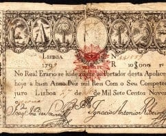 1799 Lisbon 10,000 Peso Sterling note