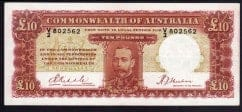 King George V Ten Pound Banknote