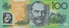 Australian Polymer One Hundred Dollar Banknotes