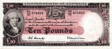 ten pounds commonwealth of australia