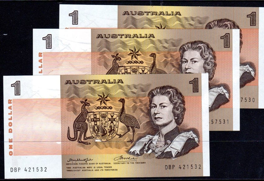 One Dollar Knight Wheeler Test Banknotes