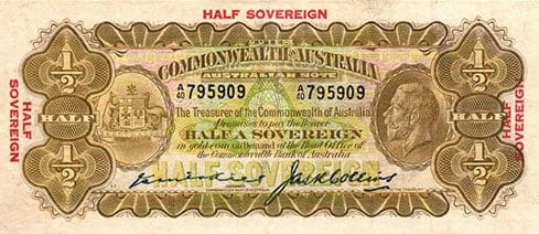 australian half sovereign kell collins 1926