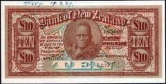 BANK OF NZ SPECIMEN 1927 front