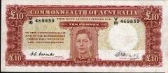 Australian King George VI 10 pound banknote