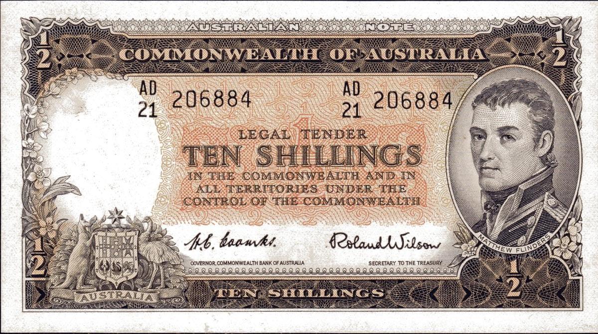 Ten Shilling CoombsWilson. Circa 1954
